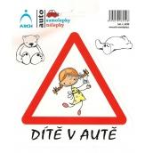 Arch Car sticker Child in the car cheerful girl 15 x 17 cm