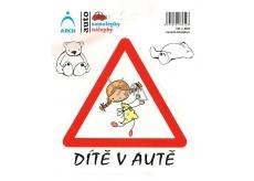 Arch Car sticker Child in car cheerful girl 6252 15 x 17 cm