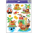 Room Decor Stickers on the wall pirates treasure chest with 33 x 29 cm treasure