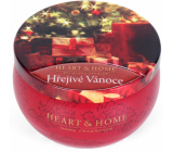 Heart & Home Warm Christmas Soy scented candle in a can burns up to 30 hours 125 g
