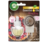 Air Wick Essential Oils Merry Berry - Scent of winter fruit electric air freshener complete 19 ml