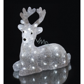 Deer illuminated 31 x 27 x14 cm, 40 LED cool white + 3 m power cord