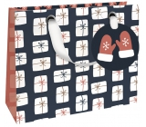 Nekupto Gift paper bag luxury 18 x 16 cm Christmas WLIS 1785