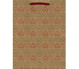Nekupto Gift paper bag medium 24.5 x 19 x 8 cm Heart 565 KHM