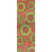 Nekupto Dárková papírová taška na láhev 33 x 10 x 9 cm vánoční hvězdy 1ks 144 CLH