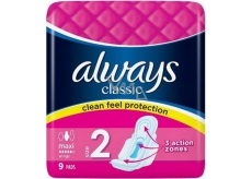 Always Classic Standard Maxi intimate inserts 9 pieces