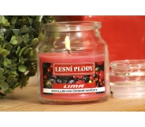 Lima Aroma Dreams Forest fruits aromatic candle glass with lid 120 g