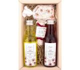 Bohemia Gifts Wine Spa Wine cosmetics Grape oil and vine extract shower gel 200 ml + hair shampoo 200 ml + soap 30 g + bath salt in a bag 150 g, cosmetic set