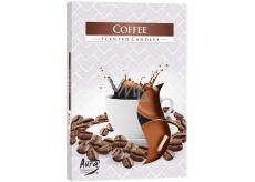 Bispol Aura Coffee s vůní kávy vonné čajové svíčky 6 kusů