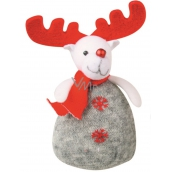 Gray reindeer knitted to stand 17 cm