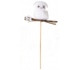 Owl with a 6 cm white star + skewer