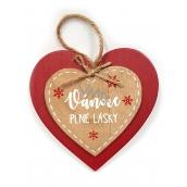 Nekupto Christmas Christmas decoration heart Christmas full of love 12 x 12 cm