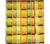 Ditipo Fabric ribbon with wire yellow with flowers 2 mx 40 mm