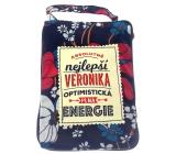 Albi Foldable bag with zipper name Veronika 42 x 41 x 11 cm
