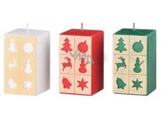 Arome Windows Christmas motif candle prism 60 x 110 mm 335 g 1 piece