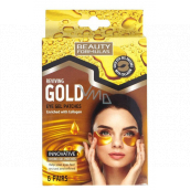 Beauty Formulas Gold gold gel eye tape with collagen 6 pairs