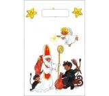 Taška igelitová malá Mikuláš, čert, anděl 32 x 20 x 8 cm
