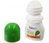 BioPha Grapefruit kuličkový deodorant bez alkoholu, soli, hliníku pro citlivou pokožku v biokvalitě roll-on pro ženy 50 ml