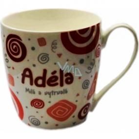 Nekupto Twister mug named Adela red 0.4 liter