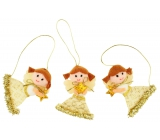 Angels with gold accessories 3 pieces in a box 10 x 6cm