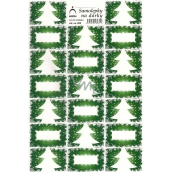 Arch Christmas tree green Christmas gift stickers 20 labels 1 arch