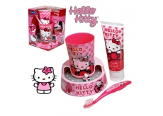 Hello Kitty toothbrush + toothpaste + crucible + timer exp. 6/2016