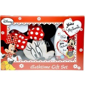 Disney Miss Minnie 2in1 Shampoo and Shower Gel 300 ml + Minnie Shaped Washcloth, cosmetic set