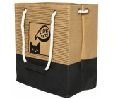 Albi Eco bag made of washable paper with handle - cat 30 cm x 34 cm x 18 cm