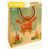 Nekupto Gift kraft bag 25 x 8 x 19 cm Christmas bear 595 WKHM
