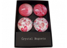 Albi Crystal magnets Circles, hearts 4 pieces
