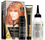 Loreal Paris Préférence hair color 74 Dublin Intensely copper