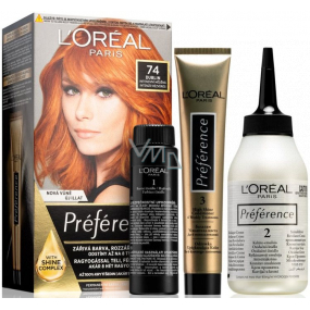 Loreal Paris Préférence hair color 74 Dublin Intensely copper
