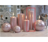 Lima Galaxy candle pink cylinder 50 x 170 mm 1 piece