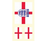 Arch tattoo decals on face and body England flag 2 motif