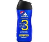 Adidas Sport Energy 3v1 Body Hair Face sprchový gel na tělo, vlasy a tvářpro muže 400 ml