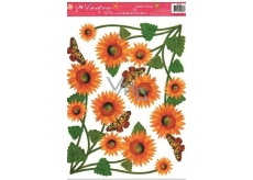 Room Decor Window film without glue corner sunflower 37 x 26 cm