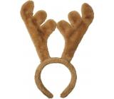 Headband antlers beige 22 cm