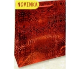 Nekupto Gift paper bag large 32 x 26 x 13 cm Red hologram 121 30 THL