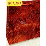 Nekupto Gift Paper Bag Large 32 x 26 x 13 cm Red Hologram 121 30 THL