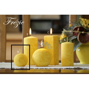 Lima Marble Freesia scented candle yellow ball 60 mm 1 piece