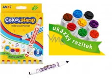 Amos Color & Stamp markers with 8 colors stamps