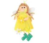 Felt fairy for hanging yellow 12 cm