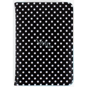 Albi Diář mini Černý s puntíky 7,5 cm × 11 cm × 1,1 cm
