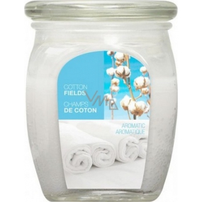 Bolsius Aromatic Cotton Fields - Cotton plantations scented candle in glass 92 x 120 mm 830 g, burning time 100 hours