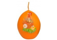 Animals Easter candle orange egg 54 g