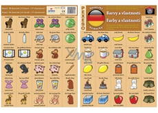 Ditipo Language memory game Colors and features german 297 x 222 mm