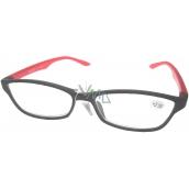Berkeley Čtecí dioptrické brýle +2,50 plastové černé obruby, červené 1 kus ER4133