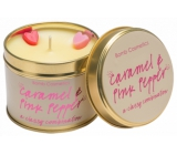 Bomb Cosmetics Caramel and pink pepper Scented natural, handmade candle in a tin can burns for up to 35 hours