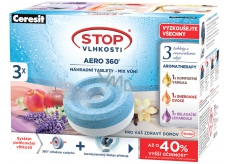 Ceresit Stop Humidity Aero 360 ° replacement tablets Triopack AROMA vanilla, lavender, fruit 3 x 450 g