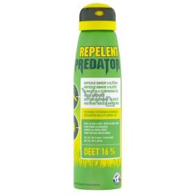 Predator Repellent Deet 16% repellent spray repels mosquitoes and ticks 150 ml